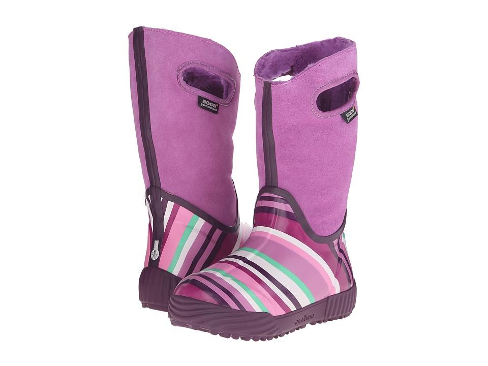 Bogs Kids - Prairie Stripes (Toddler/Little Kid/Big Kid) (Violet Multi) Girls Shoes