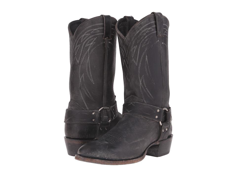 Frye - Billy Harness (Black Polished Stonewash) Cowboy Boots