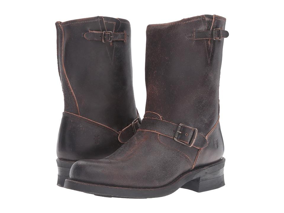 Frye - Engineer 12R (Chocolate Waxed Suede) Men's Work Boots