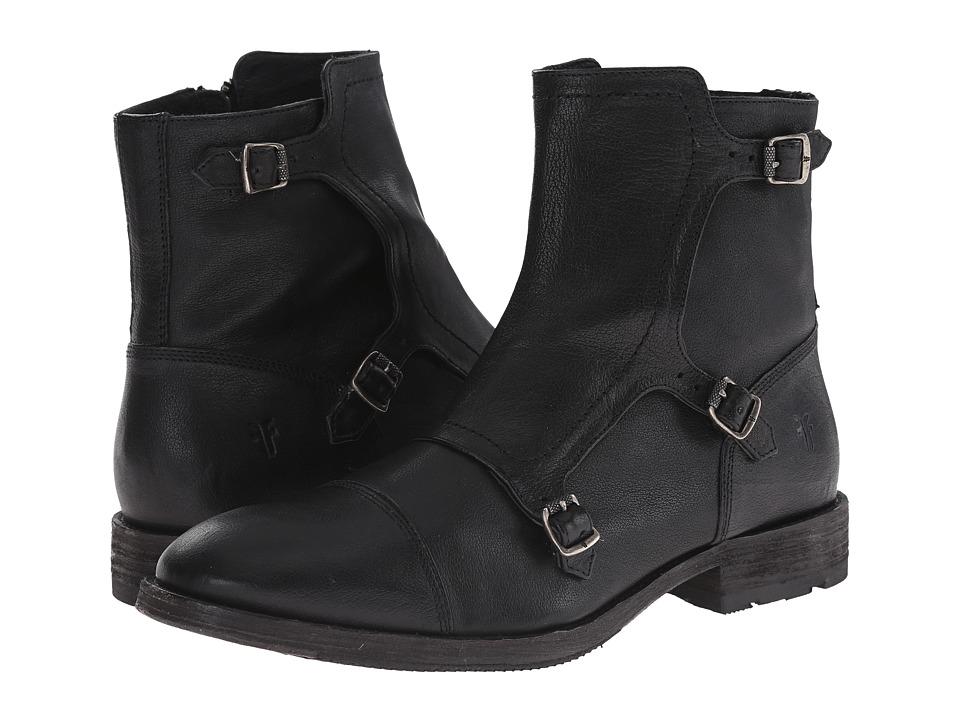 Frye - Ethan Triple Monk (Black Buffalo Leather) Men's Dress Pull-on Boots