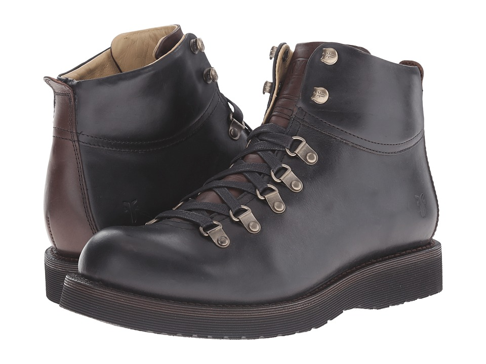 Frye - Evan Hiker (Black Smooth Full Grain) Men's Lace-up Boots