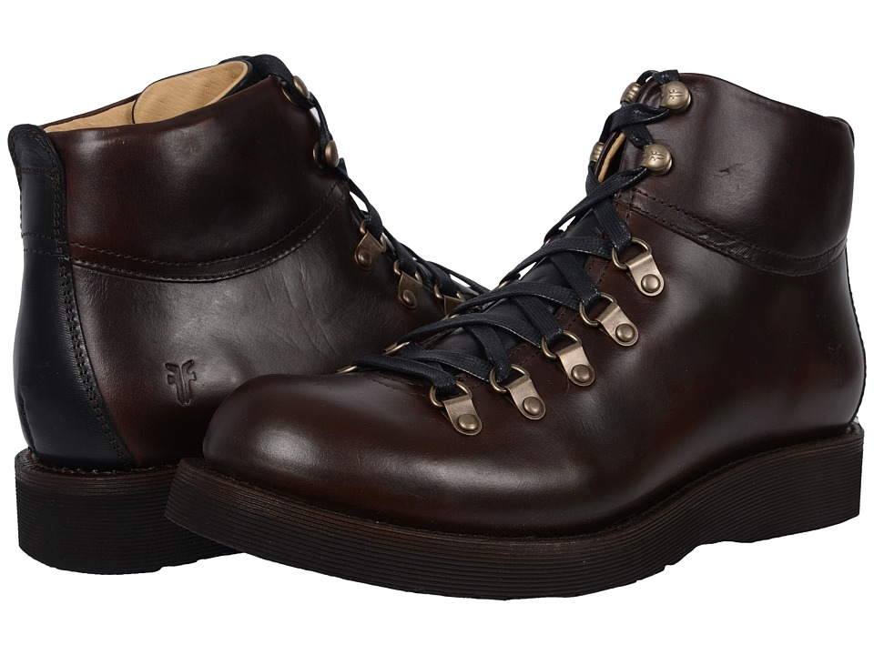 Frye - Evan Hiker (Espresso Smooth Full Grain) Men's Lace-up Boots