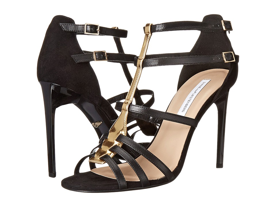 Diane von Furstenberg - Viv (Black Nappa) High Heels