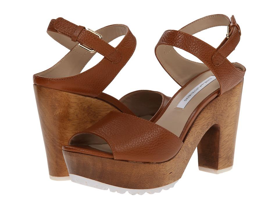 Diane von Furstenberg - Tiber Too (Cuoio Shiny Tumbled Leather) High Heels