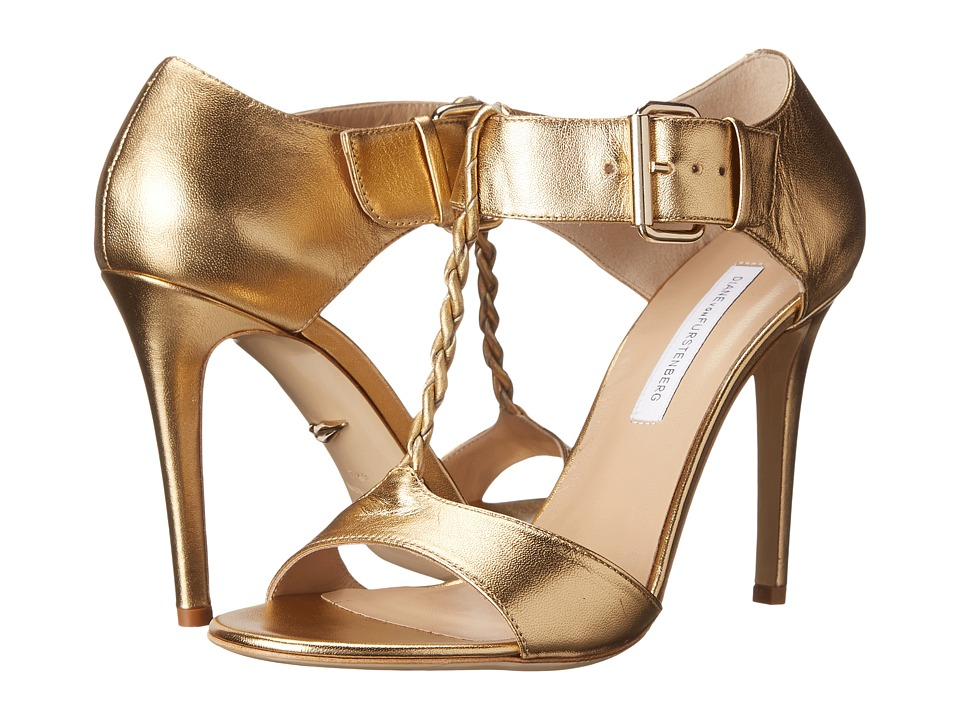 Diane von Furstenberg Vesper (Mushroom Metallic Nappa) High Heels