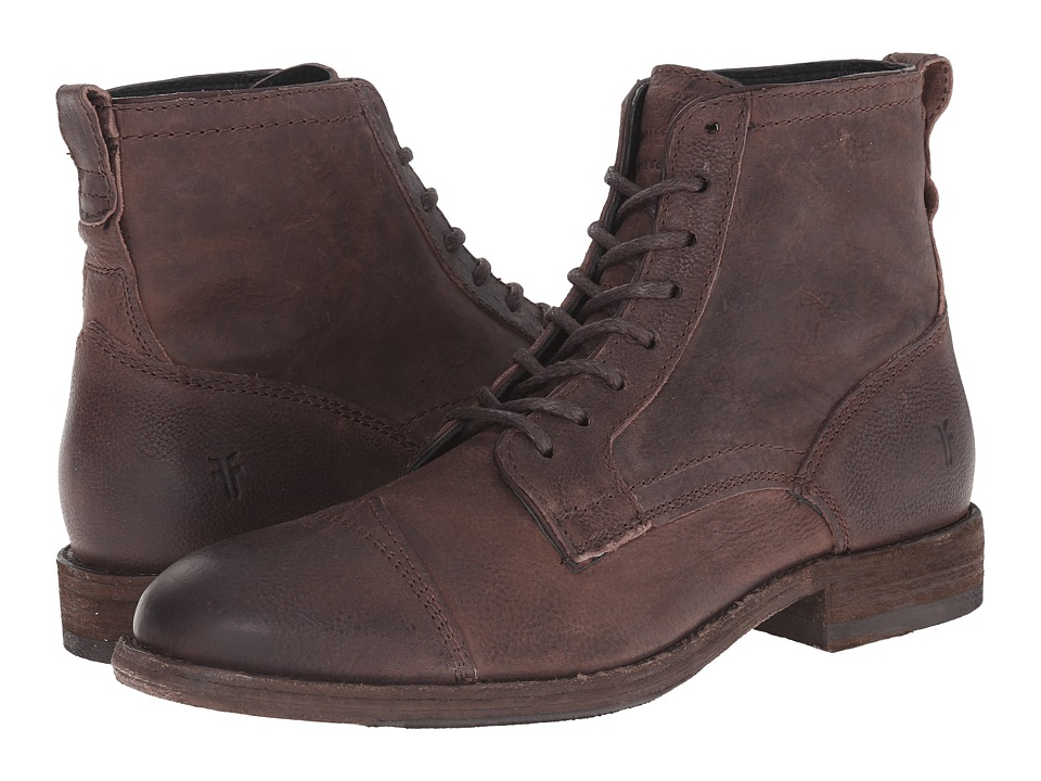 Frye - Everett Lace Up (Dark Brown Distressed Nubuck 2) Men