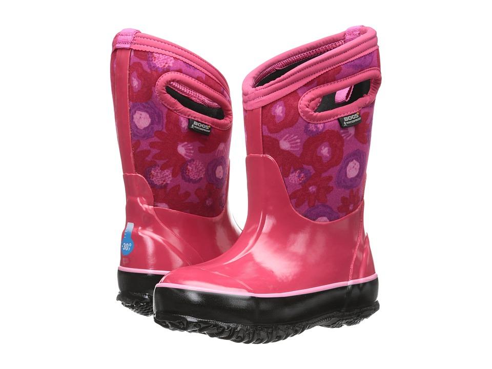 Bogs Kids - Classic Watercolor (Toddler/Little Kid/Big Kid) (Magenta Multi) Girls Shoes