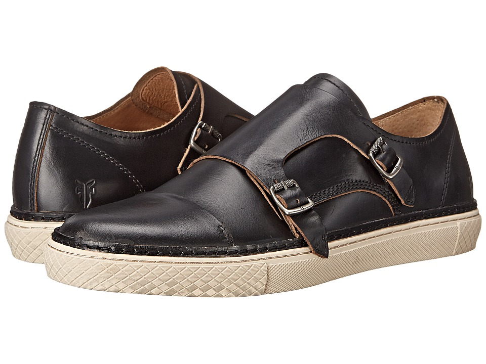 Frye Gates Double Monk (Black Smooth Full Grain) Men