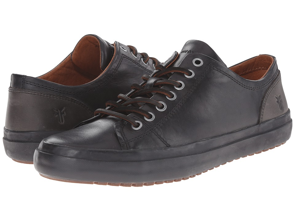 Frye Grand Low Lace (Black Smooth Vintage Leather) Men