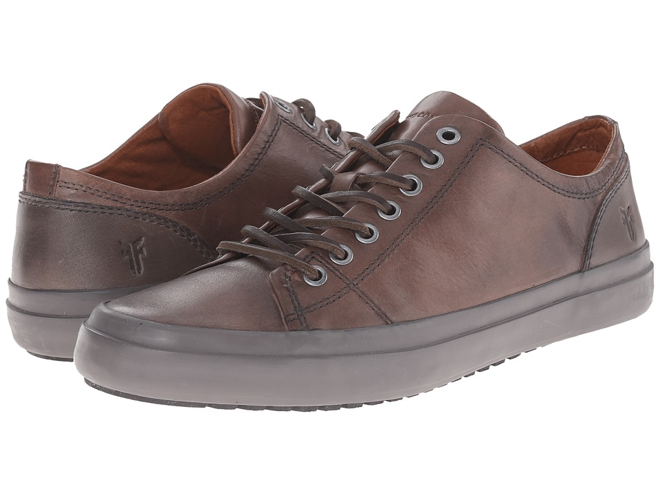 Frye - Grand Low Lace (Dark Grey Smooth Vintage Leather) Men's Lace up casual Shoes