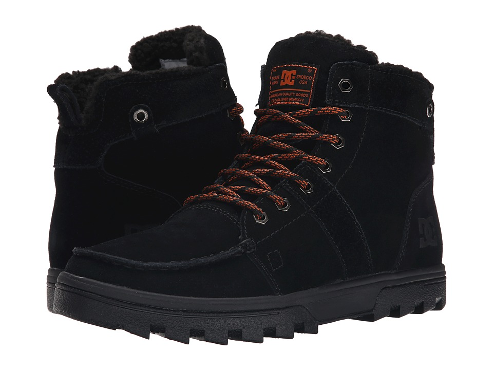 DC - Woodland (Black/Orange) Men's Skate Shoes