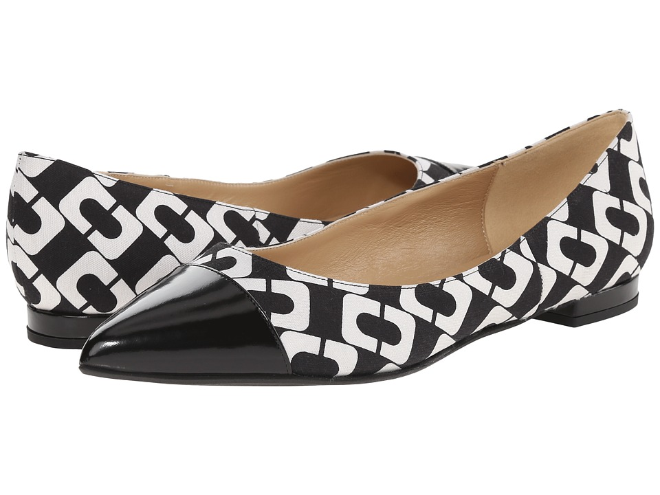 Diane von Furstenberg - Lela (Black) Women's Dress Flat Shoes