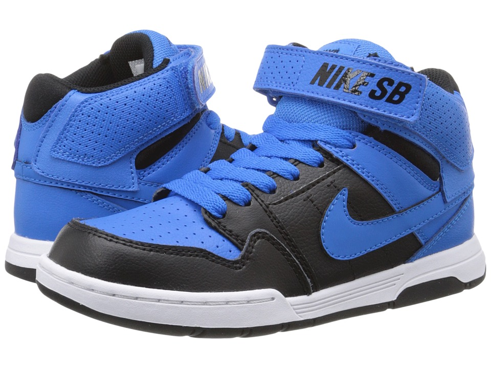 Nike SB Kids - Mogan Mid 2 Jr (Little Kid/Big Kid) (Photo Blue/Black/White/Photo Blue 1) Boys Shoes