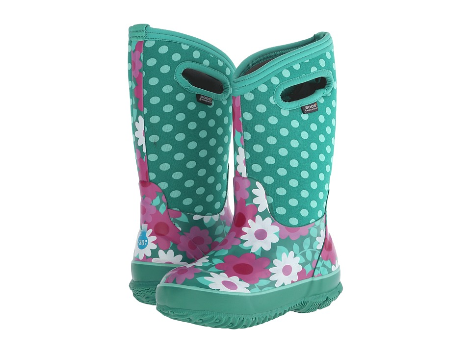 Bogs Kids - Classic Flower Dot (Toddler/Little Kid/Big Kid) (Mint Green) Girls Shoes