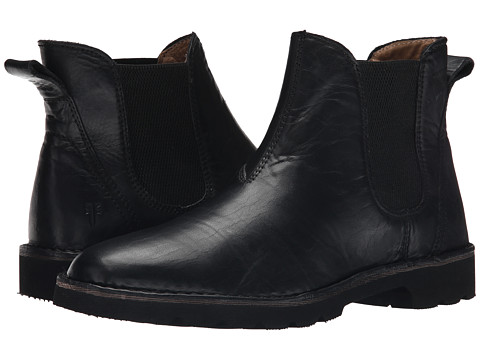 Frye - Holden Chelsea (Black Oiled Vintage) Men's Pull-on Boots
