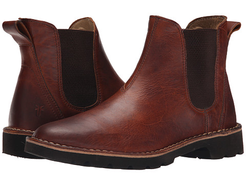 Frye - Holden Chelsea (Cognac Oiled Vintage) Men's Pull-on Boots