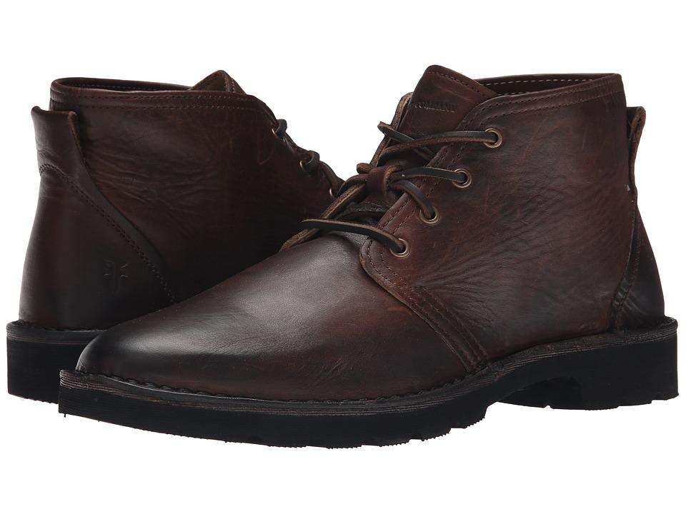 Frye - Holden Chukka (Dark Brown Oiled Vintage) Men's Moccasin Shoes