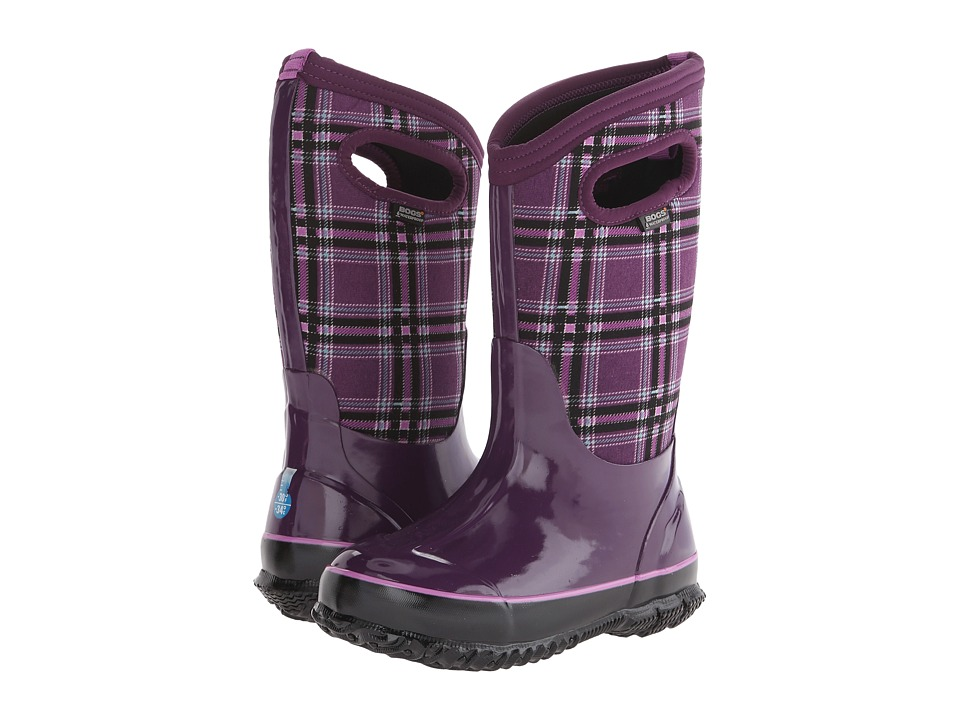 Bogs Kids - Classic Winter Plaid (Toddler/Little Kid/Big Kid) (Purple) Girls Shoes