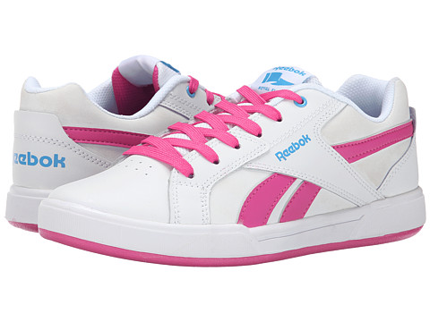 Reebok Kids - Royal Advanced (Little Kid/Big Kid) (White/Charged Pink/California Blue) Girls Shoes