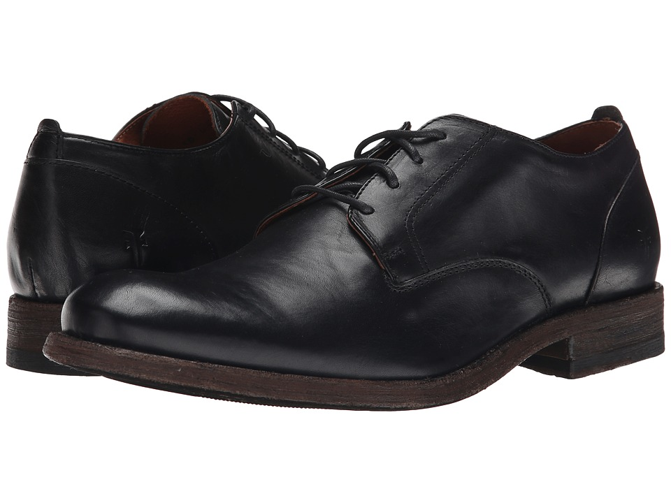 Frye Jacob Oxford (Black Antiqued Full Grain) Men