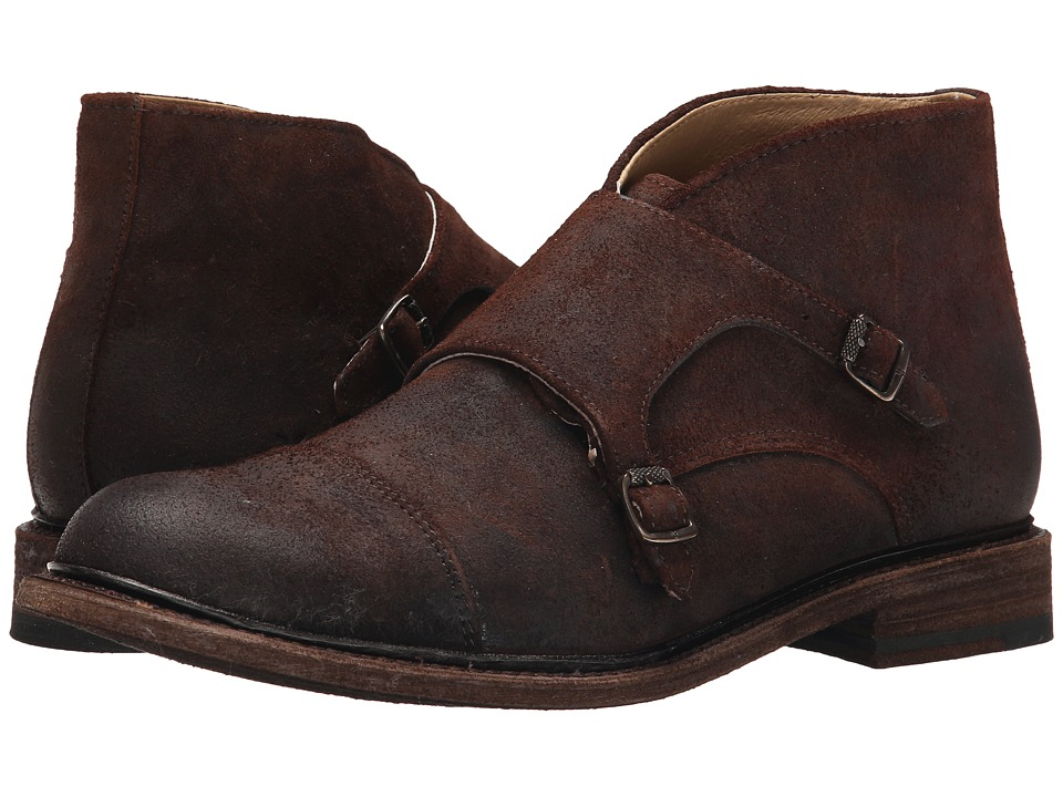 Frye Jack Monk Chukka (Dark Brown Waxed Suede) Men