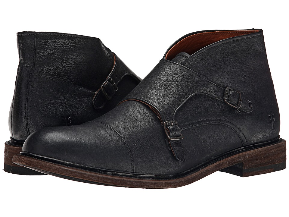 Frye Jack Monk Chukka (Black Buffalo Leather) Men