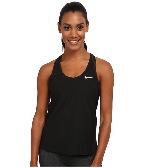 Nike - Slam Breathe Tank Top (Black/Black/Black/White) Women