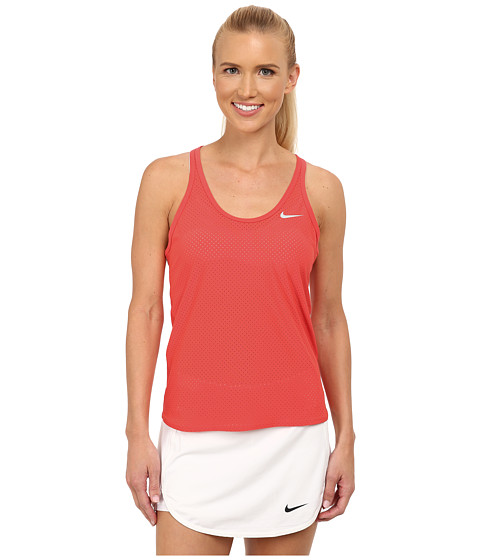 Nike - Slam Breathe Tank Top (Ember Glow/Ember Glow/Ember Glow/White) Women's Sleeveless