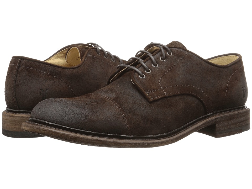 Frye - Jack Oxford (Dark Brown Waxed Suede) Men's Lace up casual Shoes