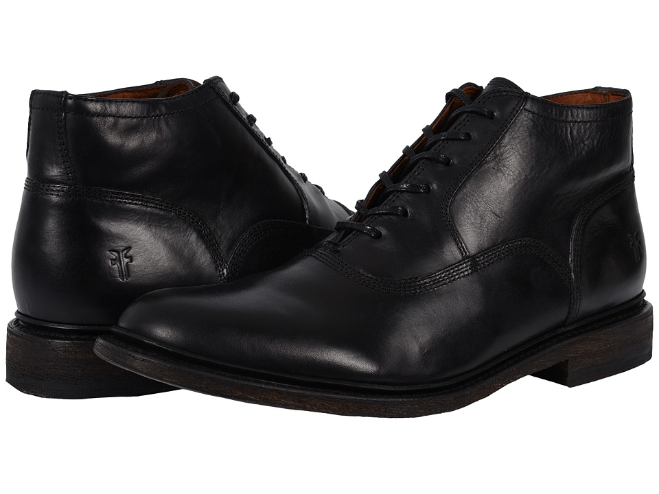 Frye - James Bal Chukka Leather (Black Smooth Vintage Leather) Men's Lace-up Boots
