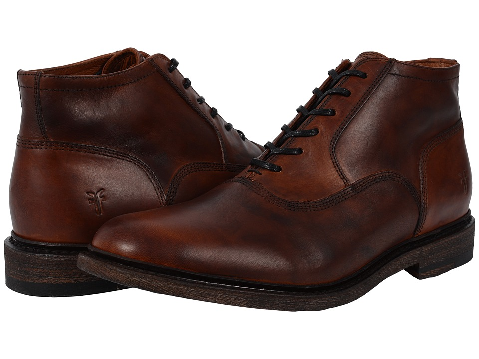 Frye James Bal Chukka Leather (Cognac Smooth Vintage Leather) Men