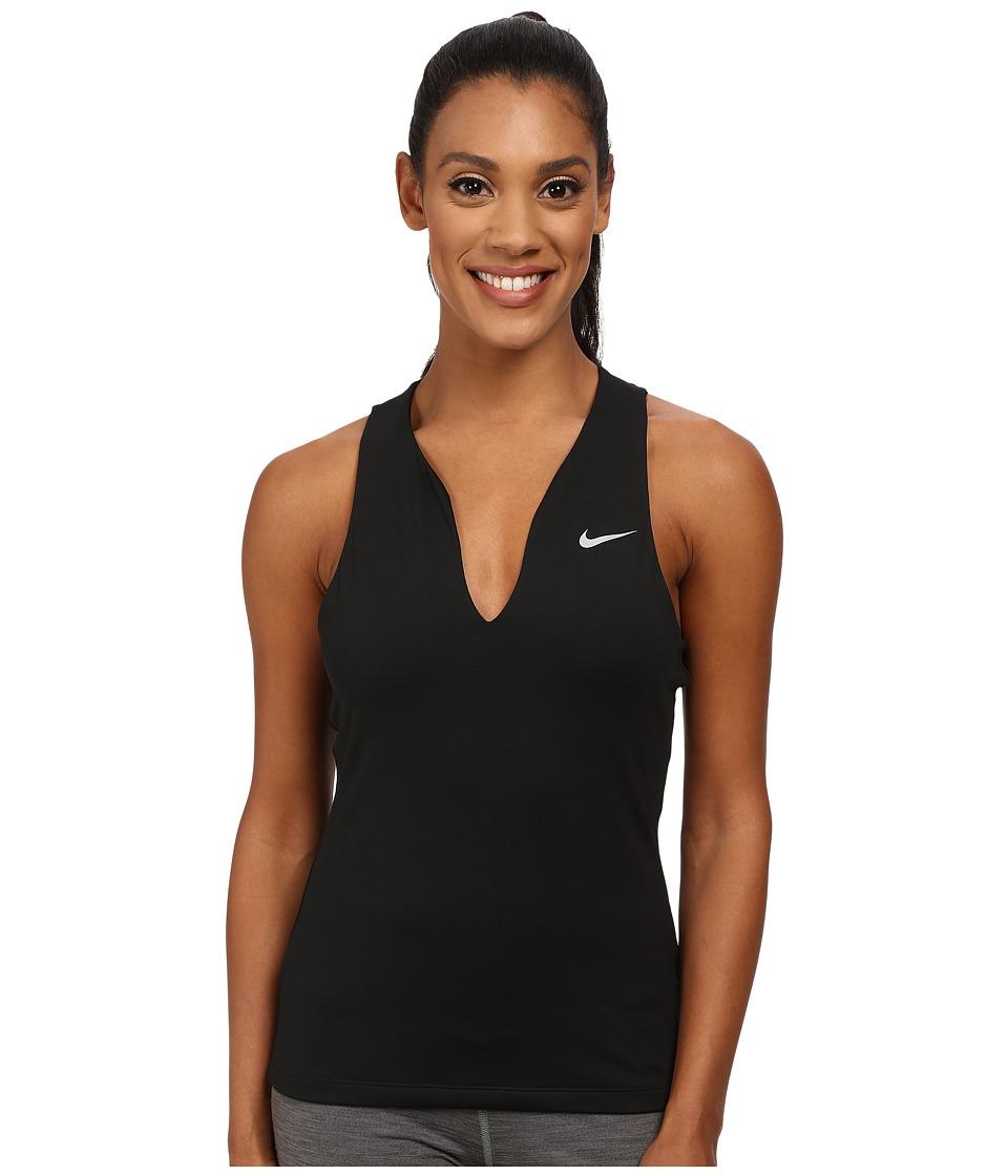 Nike - Dri-FIT Pure Tank Top (Black/Matte Silver) Women's Sleeveless