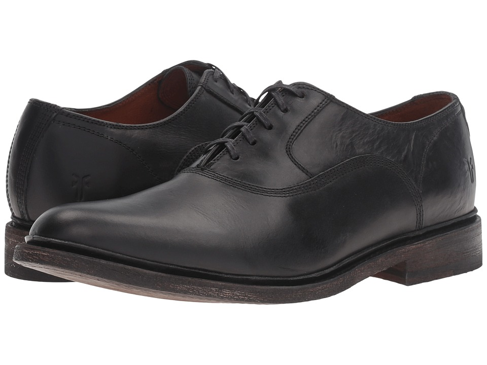 Frye James Bal Oxford (Black Smooth Vintage Leather) Men