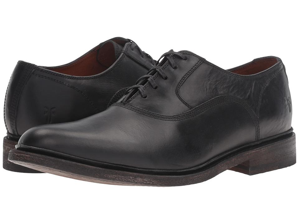 Frye - James Bal Oxford (Black Smooth Vintage Leather) Men's Plain Toe Shoes