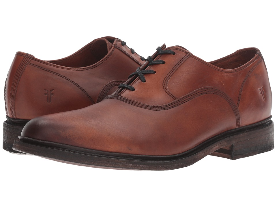 Frye James Bal Oxford (Cognac Smooth Vintage Leather) Men