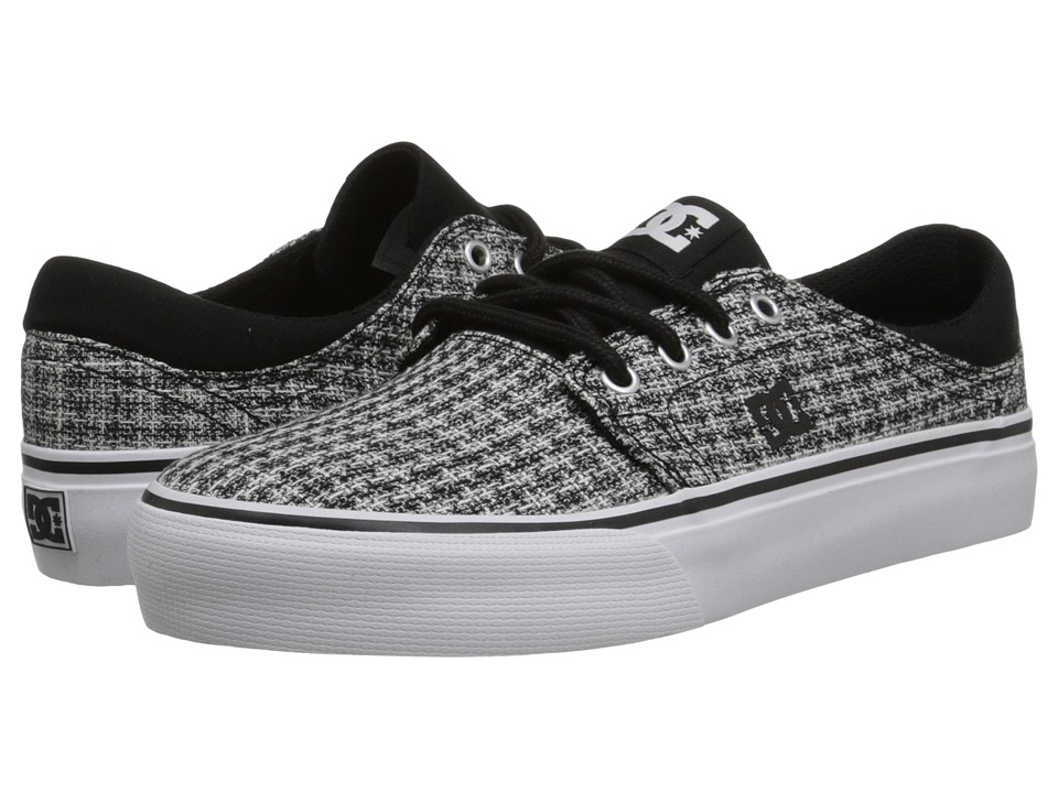 DC - Trase TX SE (Black/Grey/White) Women's Skate Shoes