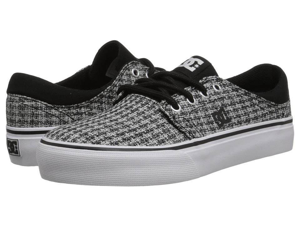 DC - Trase TX SE (Black/Grey/White) Women's Skate Shoes
