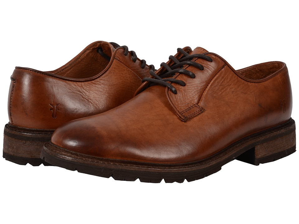 Frye - James Lug Oxford (Cognac Smooth Full Grain) Men's Lace up casual Shoes