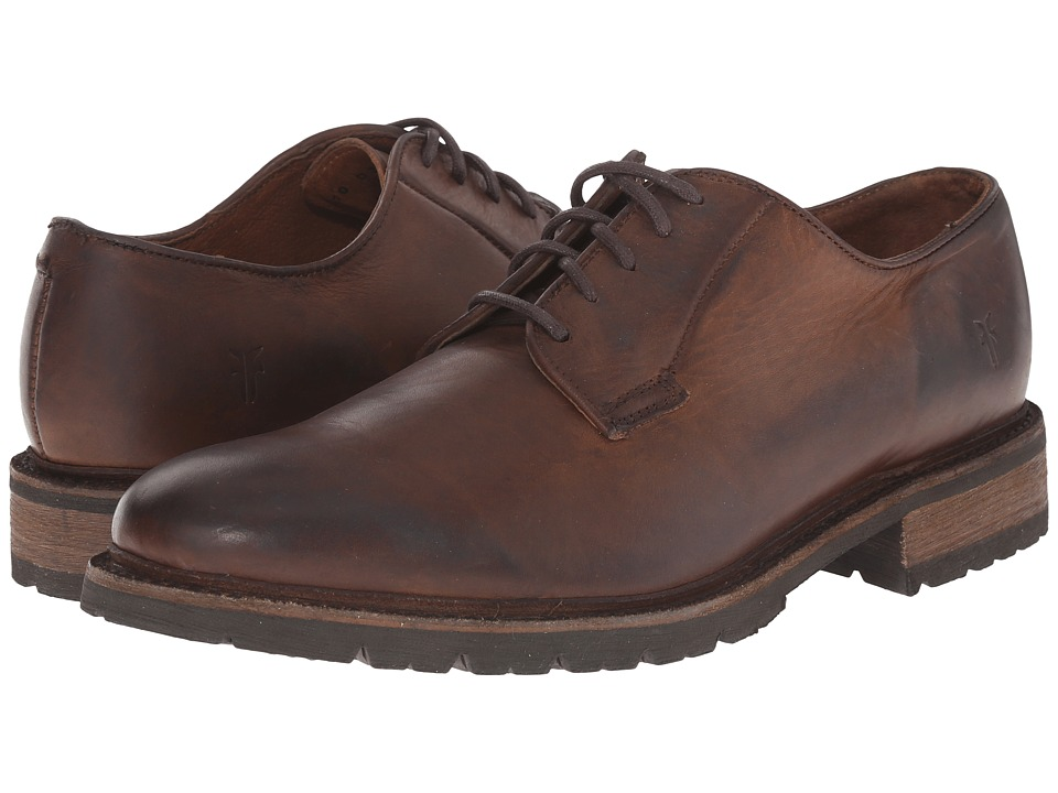 Frye James Lug Oxford (Dark Brown Smooth Full Grain) Men