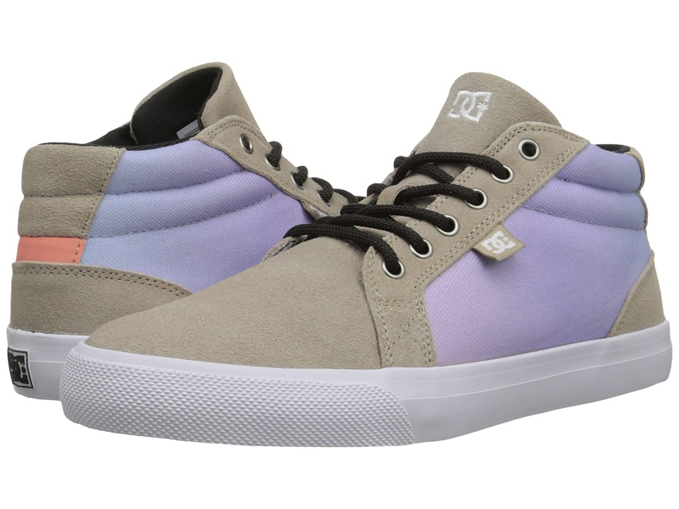 DC - Council Mid SE (Tan/Crazy Pink) Women's Skate Shoes