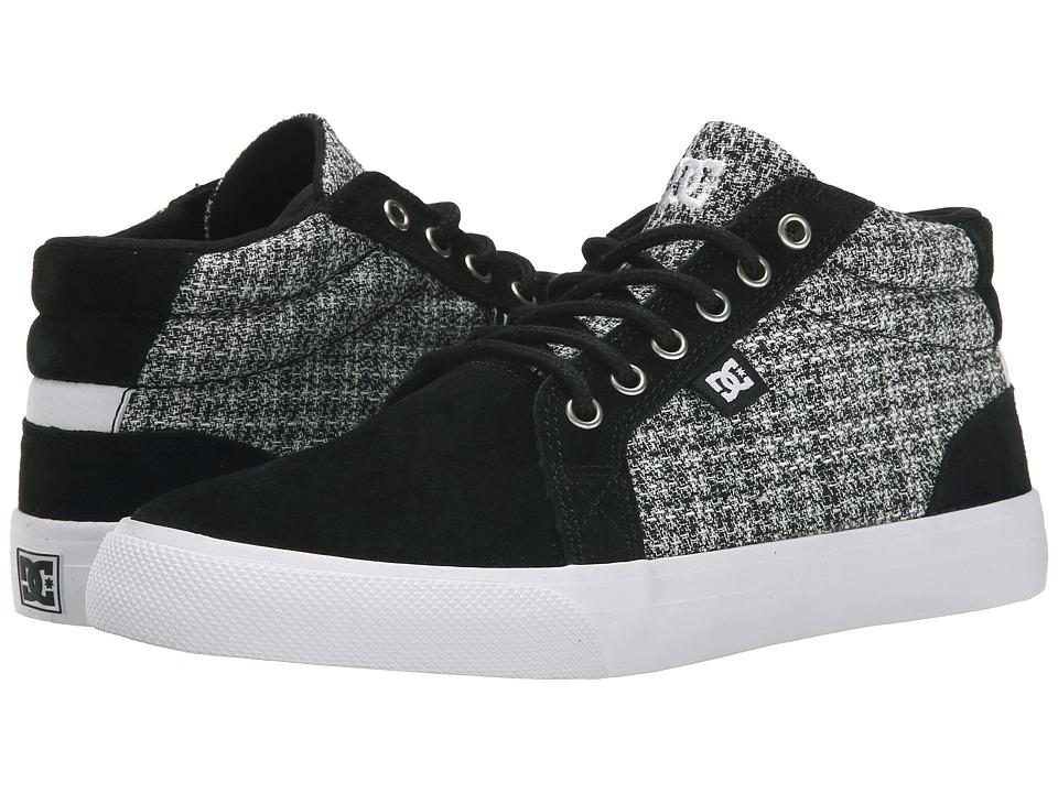 DC - Council Mid SE (Black/White/Grey) Women's Skate Shoes