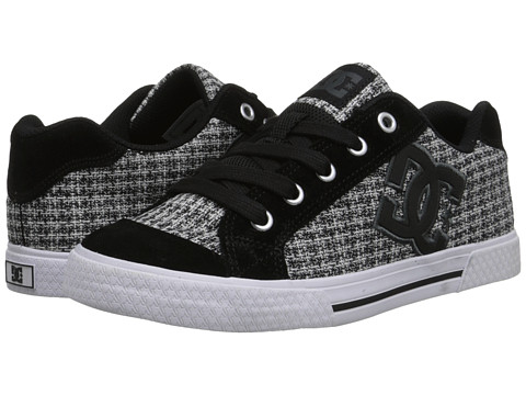 DC - Chelsea SE W (Black/White/Grey) Women's Skate Shoes