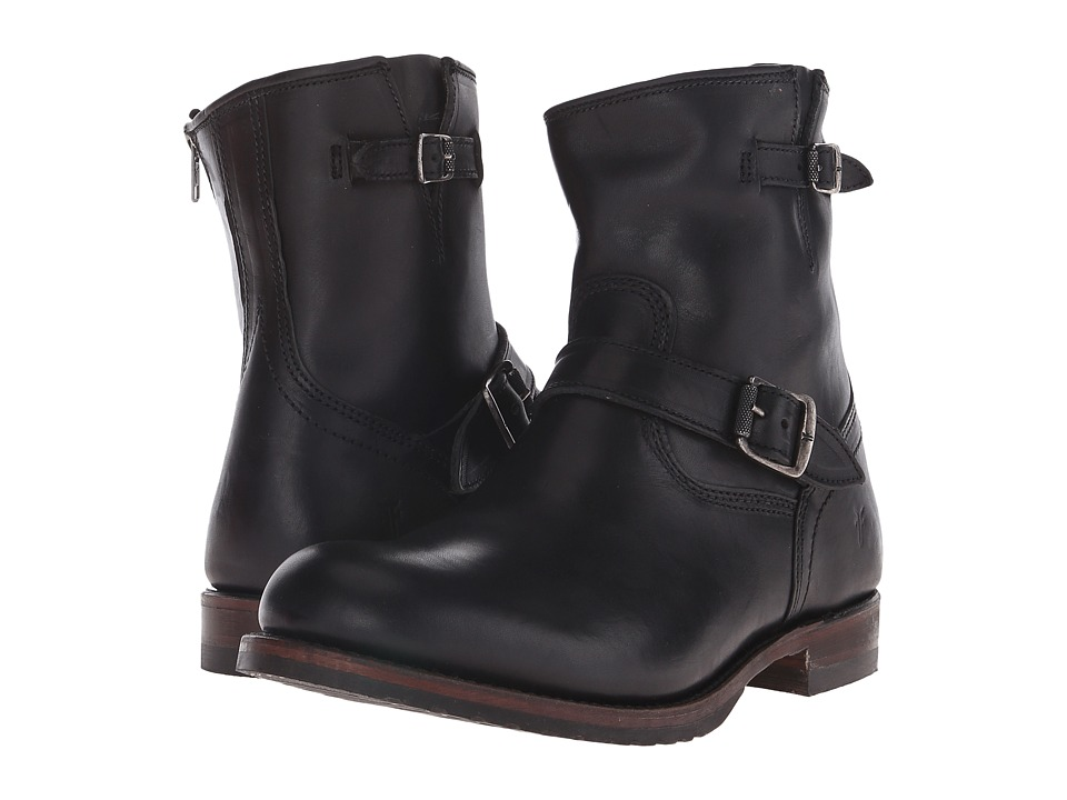 Frye - Logan Engineer Inside Zip (Black Vintage Pull Up) Men's Zip Boots