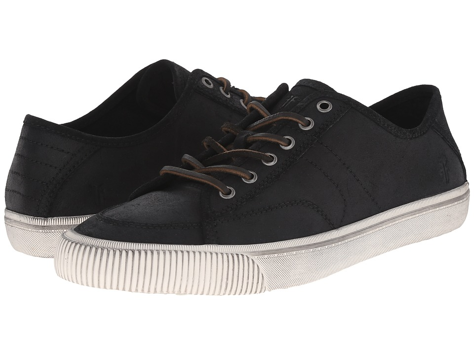 Frye - Miller Low Lace (Black Waxed Vintage Leather) Men's Lace up casual Shoes