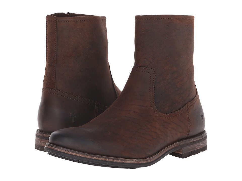 Frye Oscar Inside Zip (Whiskey Textured Full Grain) Men