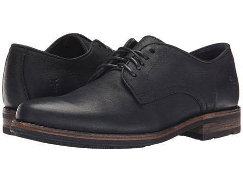 Frye - Oscar Oxford (Black Textured Full Grain) Men's Plain Toe Shoes