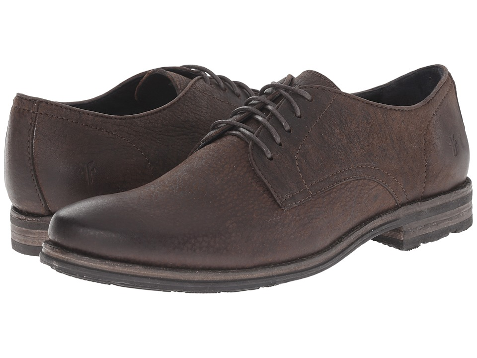 Frye - Oscar Oxford (Whiskey Textured Full Grain) Men's Plain Toe Shoes