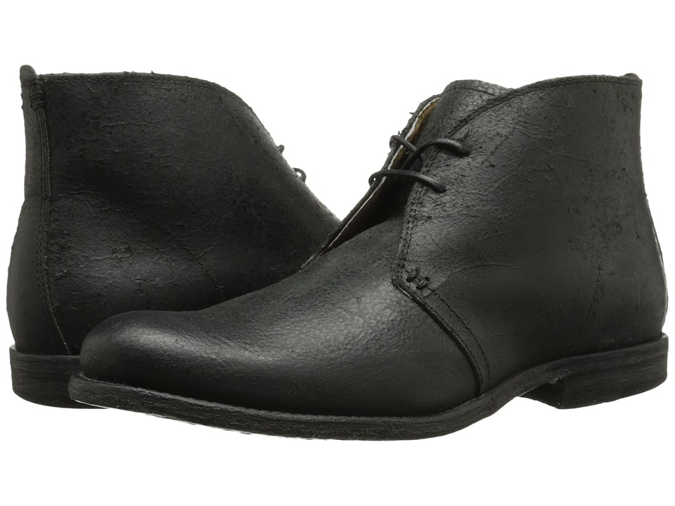 Frye - Phillip Chukka (Black Distressed Suede) Men's Lace-up Boots