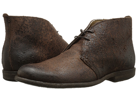 Frye - Phillip Chukka (Brown Distressed Suede) Men's Lace-up Boots