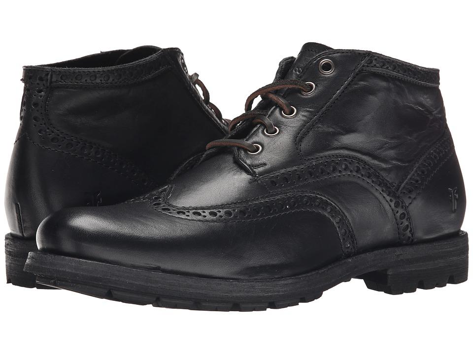 Frye - Phillip Lug Wingtip Chukka (Black Oiled Vintage) Men's Lace Up Wing Tip Shoes